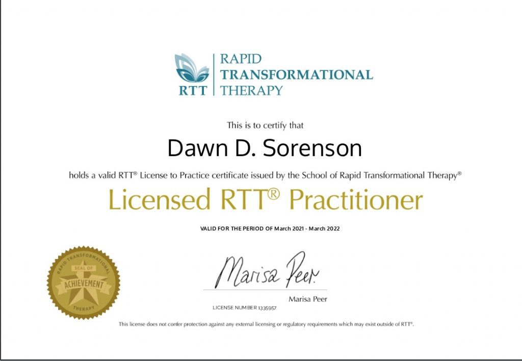 licensed RTT Practitioner